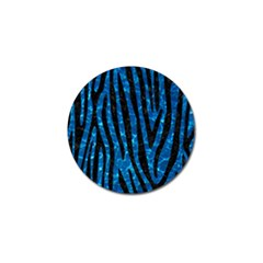 Skin4 Black Marble & Deep Blue Water Golf Ball Marker by trendistuff