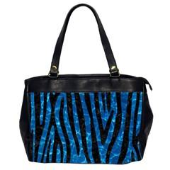 Skin4 Black Marble & Deep Blue Water Office Handbags (2 Sides)  by trendistuff