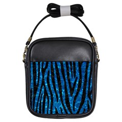 Skin4 Black Marble & Deep Blue Water Girls Sling Bags by trendistuff
