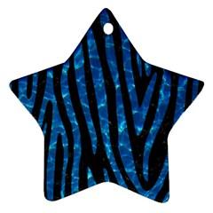 Skin4 Black Marble & Deep Blue Water (r)skin4 Black Marble & Deep Blue Water (r) Star Ornament (two Sides) by trendistuff