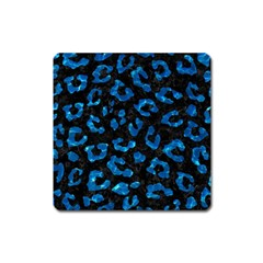 Skin5 Black Marble & Deep Blue Water (r) Square Magnet by trendistuff