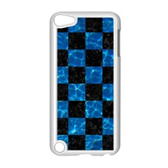 Square1 Black Marble & Deep Blue Water Apple Ipod Touch 5 Case (white) by trendistuff