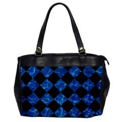 Square2 Black Marble & Deep Blue Water Office Handbags by trendistuff