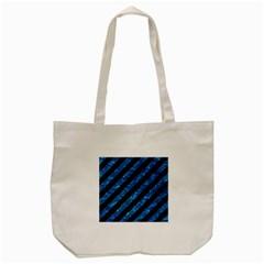 Stripes3 Black Marble & Deep Blue Water Tote Bag (cream) by trendistuff