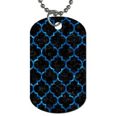 Tile1 Black Marble & Deep Blue Water Dog Tag (two Sides) by trendistuff