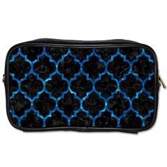 Tile1 Black Marble & Deep Blue Water Toiletries Bags 2 Side by trendistuff