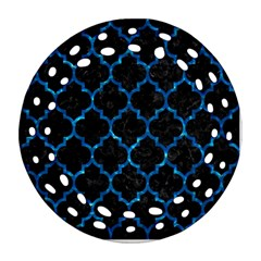 Tile1 Black Marble & Deep Blue Water Ornament (round Filigree) by trendistuff