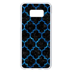 Tile1 Black Marble & Deep Blue Water Samsung Galaxy S8 Plus White Seamless Case by trendistuff