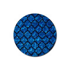 Tile1 Black Marble & Deep Blue Water (r) Rubber Round Coaster (4 Pack)  by trendistuff