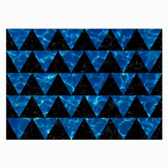 Triangle2 Black Marble & Deep Blue Water Large Glasses Cloth (2 Side) by trendistuff