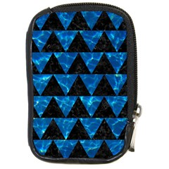 Triangle2 Black Marble & Deep Blue Water Compact Camera Cases by trendistuff