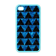 Triangle2 Black Marble & Deep Blue Water Apple Iphone 4 Case (color) by trendistuff