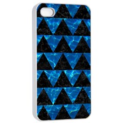 Triangle2 Black Marble & Deep Blue Water Apple Iphone 4/4s Seamless Case (white) by trendistuff