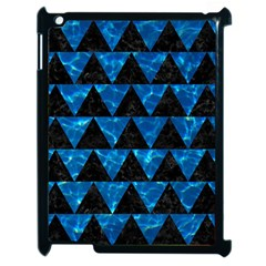 Triangle2 Black Marble & Deep Blue Water Apple Ipad 2 Case (black) by trendistuff