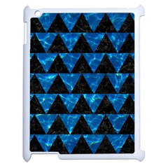 Triangle2 Black Marble & Deep Blue Water Apple Ipad 2 Case (white) by trendistuff