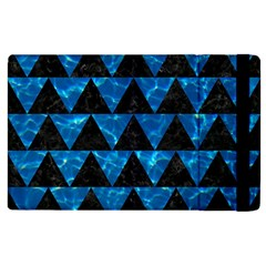 Triangle2 Black Marble & Deep Blue Water Apple Ipad 2 Flip Case by trendistuff