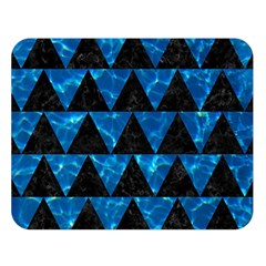Triangle2 Black Marble & Deep Blue Water Double Sided Flano Blanket (large)  by trendistuff