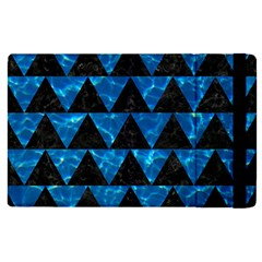 Triangle2 Black Marble & Deep Blue Water Apple Ipad Pro 12 9   Flip Case by trendistuff