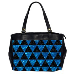 Triangle3 Black Marble & Deep Blue Water Office Handbags (2 Sides)  by trendistuff