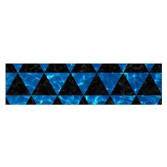 Triangle3 Black Marble & Deep Blue Water Satin Scarf (oblong) by trendistuff