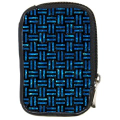 Woven1 Black Marble & Deep Blue Water Compact Camera Cases by trendistuff