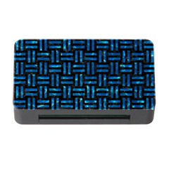 Woven1 Black Marble & Deep Blue Water Memory Card Reader With Cf by trendistuff