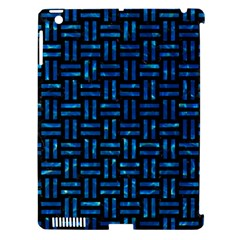 Woven1 Black Marble & Deep Blue Water Apple Ipad 3/4 Hardshell Case (compatible With Smart Cover) by trendistuff
