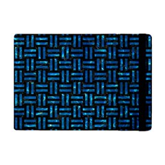 Woven1 Black Marble & Deep Blue Water Apple Ipad Mini Flip Case by trendistuff
