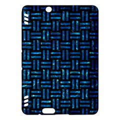 Woven1 Black Marble & Deep Blue Water Kindle Fire Hdx Hardshell Case by trendistuff