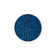 Woven1 Black Marble & Deep Blue Water (r) Golf Ball Marker (10 Pack) by trendistuff