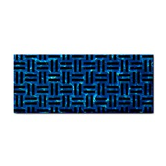Woven1 Black Marble & Deep Blue Water (r) Cosmetic Storage Cases by trendistuff