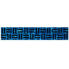 Woven1 Black Marble & Deep Blue Water (r) Flano Scarf (large) by trendistuff