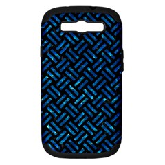 Woven2 Black Marble & Deep Blue Water Samsung Galaxy S Iii Hardshell Case (pc+silicone) by trendistuff