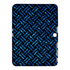 Woven2 Black Marble & Deep Blue Water Samsung Galaxy Tab 4 (10 1 ) Hardshell Case  by trendistuff