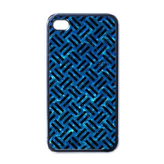 Woven2 Black Marble & Deep Blue Water (r) Apple Iphone 4 Case (black) by trendistuff