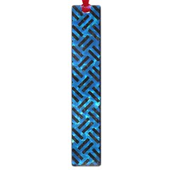 Woven2 Black Marble & Deep Blue Water (r) Large Book Marks by trendistuff