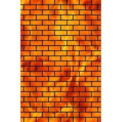 Brick1 Black Marble & Fire (r) 5 5  X 8 5  Notebooks by trendistuff