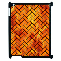 Brick2 Black Marble & Fire (r) Apple Ipad 2 Case (black) by trendistuff