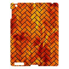 Brick2 Black Marble & Fire (r) Apple Ipad 3/4 Hardshell Case by trendistuff