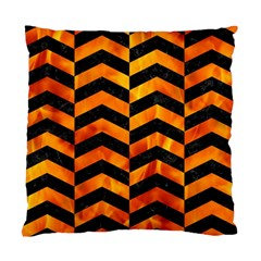 Chevron2 Black Marble & Fire Standard Cushion Case (two Sides) by trendistuff