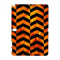Chevron2 Black Marble & Fire Galaxy Note 1 by trendistuff