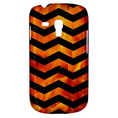Chevron3 Black Marble & Fire Galaxy S3 Mini by trendistuff