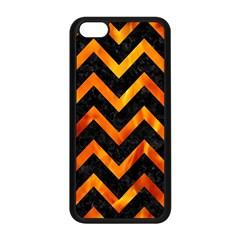 Chevron9 Black Marble & Fire Apple Iphone 5c Seamless Case (black) by trendistuff