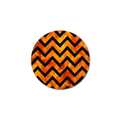 Chevron9 Black Marble & Fire (r) Golf Ball Marker (10 Pack) by trendistuff