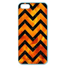 Chevron9 Black Marble & Fire (r) Apple Seamless Iphone 5 Case (color) by trendistuff
