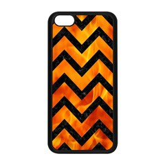Chevron9 Black Marble & Fire (r) Apple Iphone 5c Seamless Case (black) by trendistuff