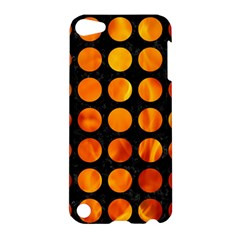 Circles1 Black Marble & Fire Apple Ipod Touch 5 Hardshell Case by trendistuff
