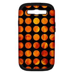 Circles1 Black Marble & Fire Samsung Galaxy S Iii Hardshell Case (pc+silicone) by trendistuff