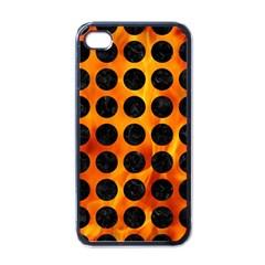 Circles1 Black Marble & Fire (r) Apple Iphone 4 Case (black) by trendistuff