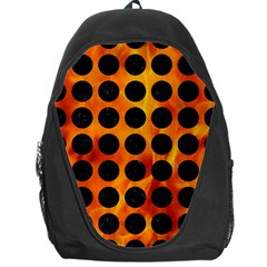 Circles1 Black Marble & Fire (r) Backpack Bag by trendistuff
